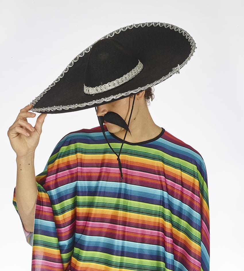 Mexicaanse Hoed/Sombrero Vilt Zwart