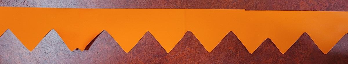 Afzetlint met Puntjes Oranje 10meter