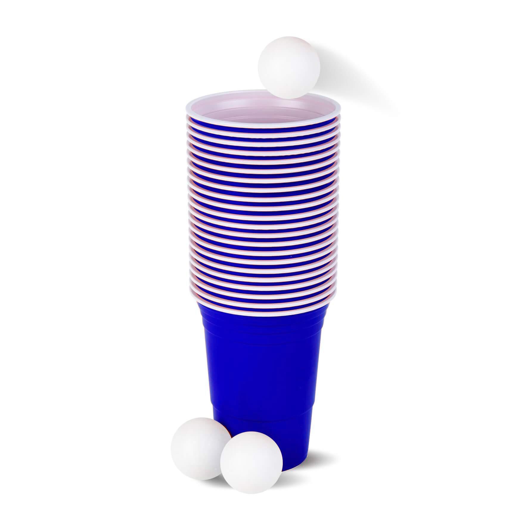 American Beer Pong Set Blauw