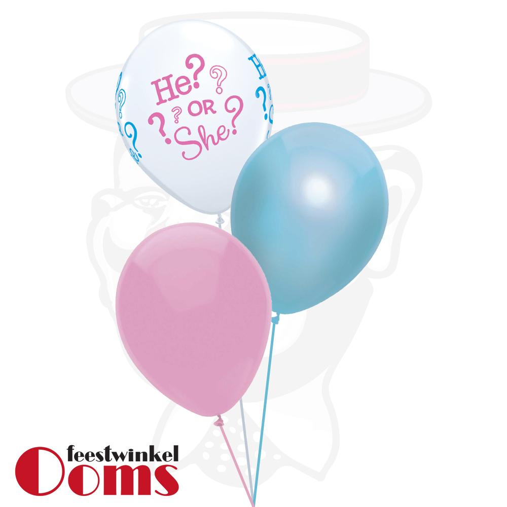 Ballonnen Tros 3st Gender Reveal