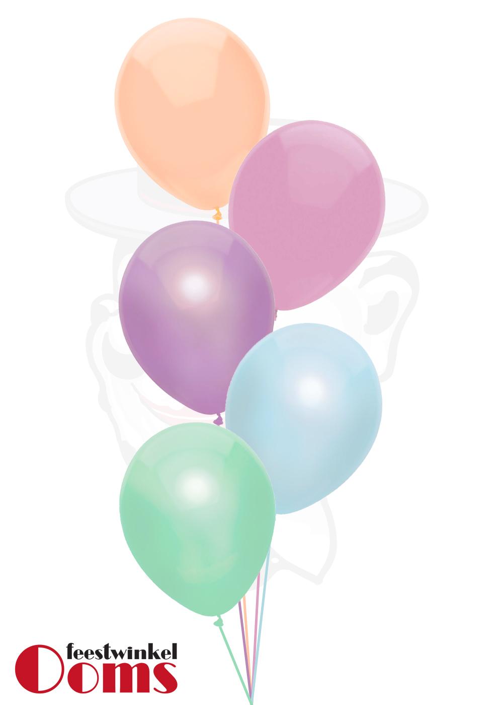Ballonnen Tros 5st Pastel Kleuren
