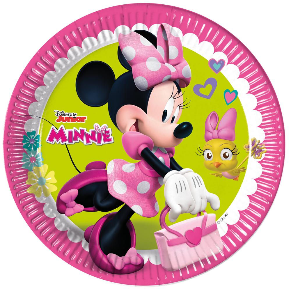 8st Bordjes Minnie Mouse 23cm