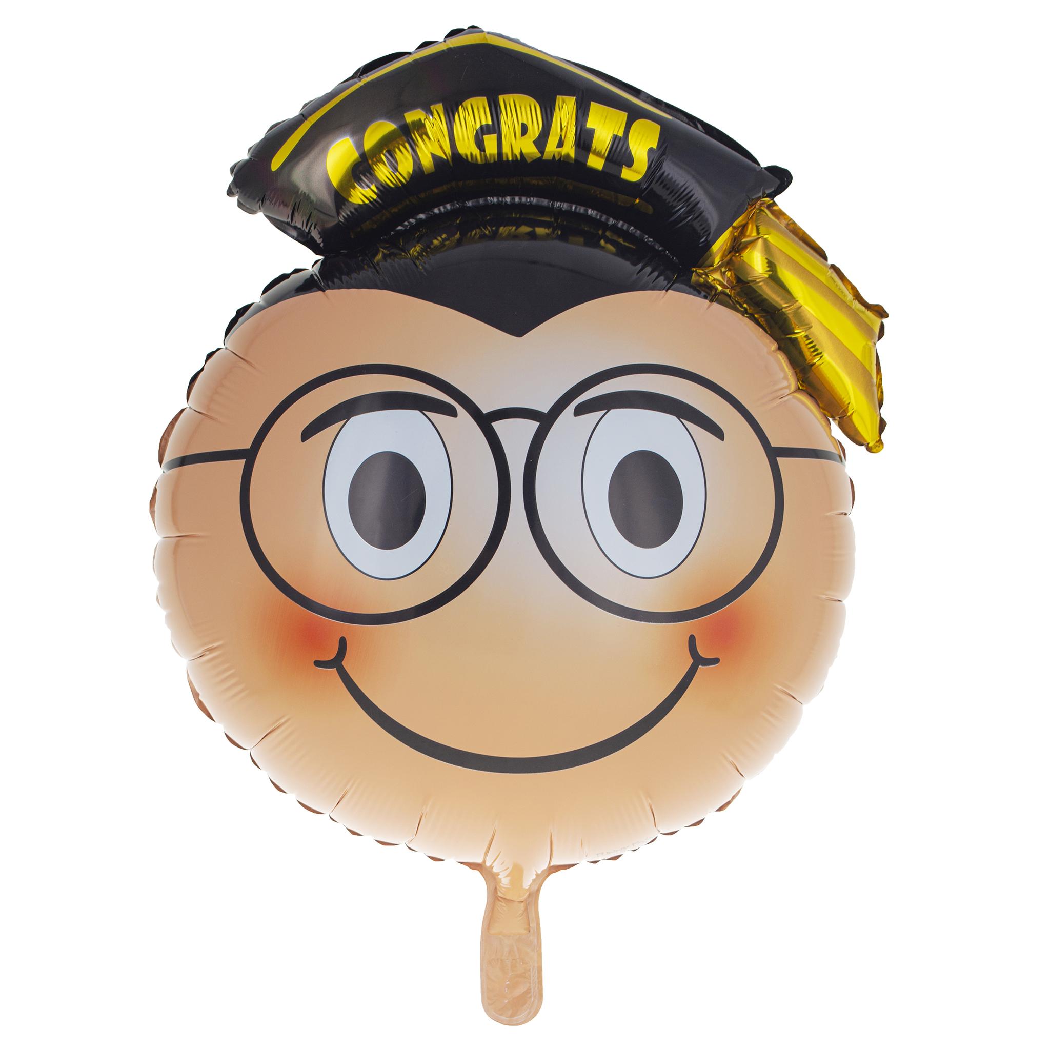 Folieballon Geslaagd Gezicht Congrats 46cm