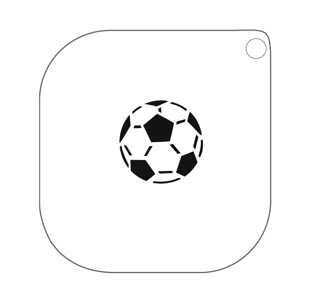 Grimas Schminksjabloon Nr.40 Voetbal