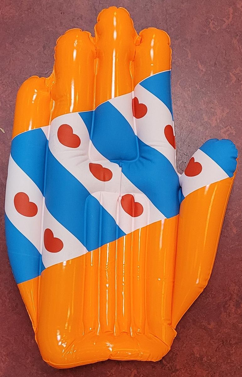 Opblaas Hand Oranje/Friesland