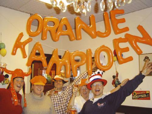 Opblaasletter-Kit Oranje Kampioen