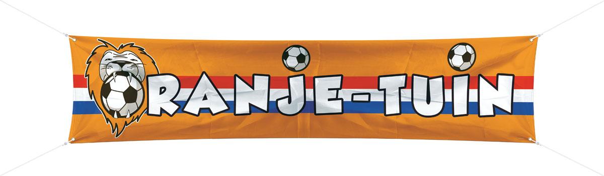 Polyester Banner Oranje Tuin 40x180cm