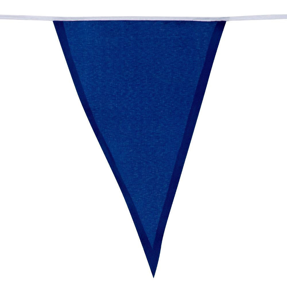 10m Stoffen Vlaggenlijn Uni Rood/Wit/Blauw