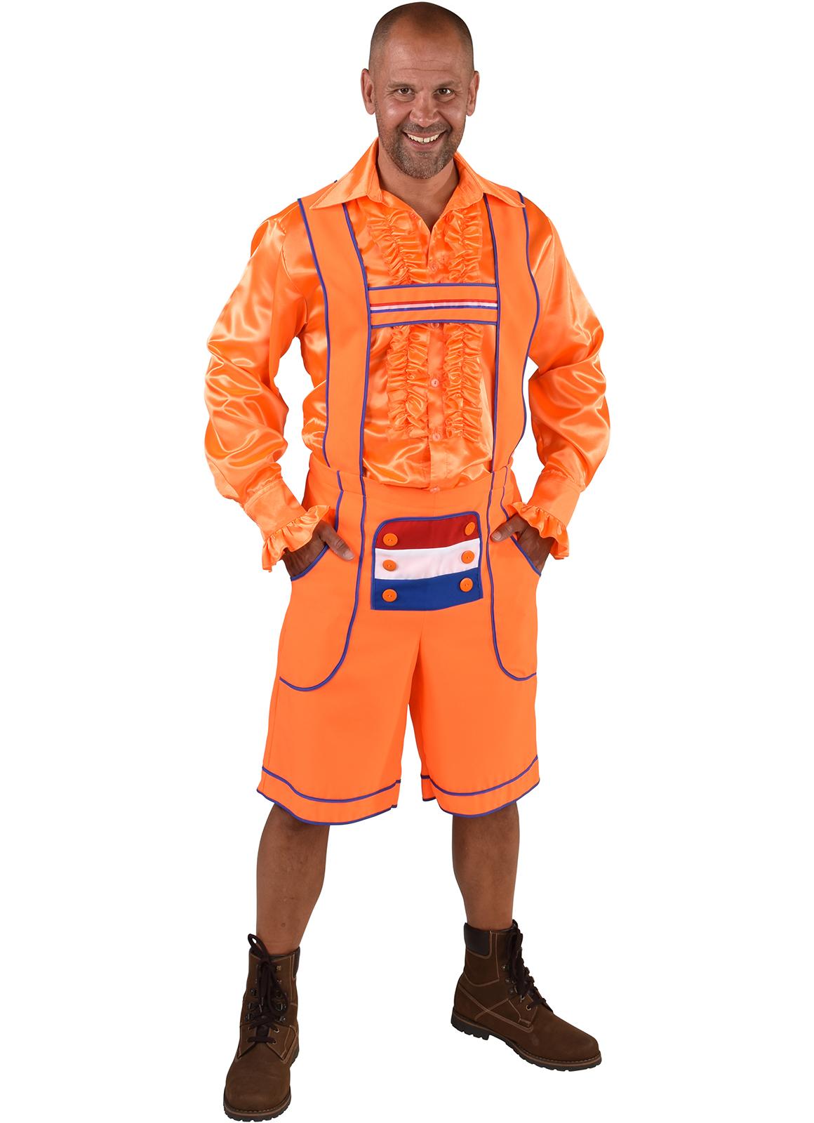 Tiroler Broek Oranje Nederland Heren