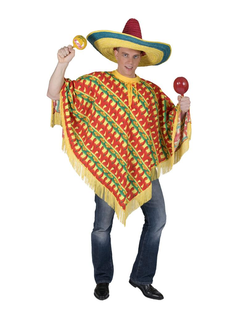 Mexicaanse Poncho Pepers Volwassen