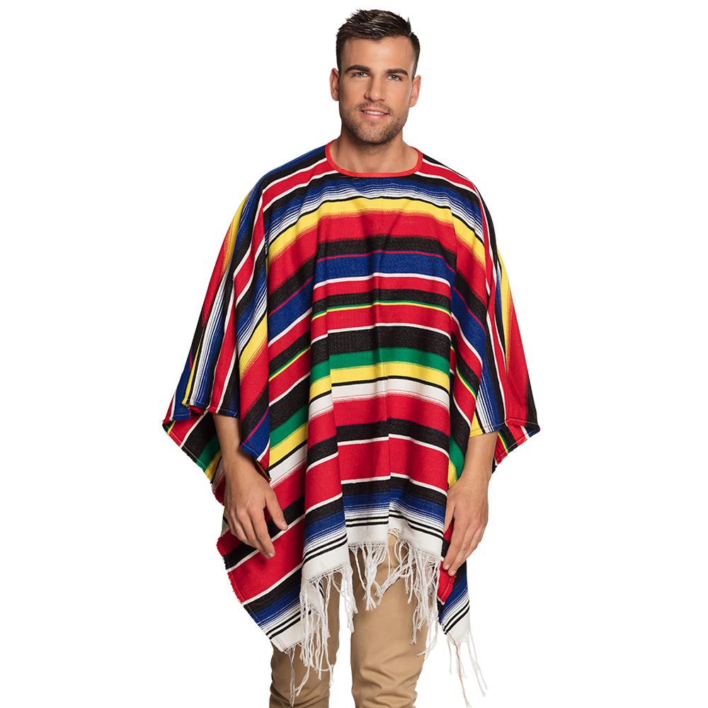 Mexicaanse Poncho Volwassen 140x155cm