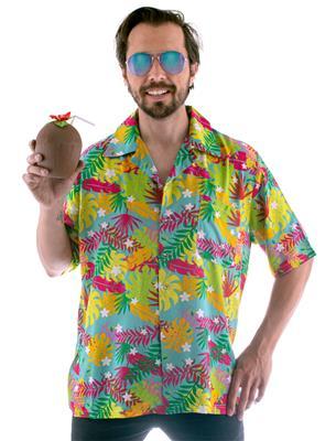 Shirt Hawai Keanu Bladeren Volwassen