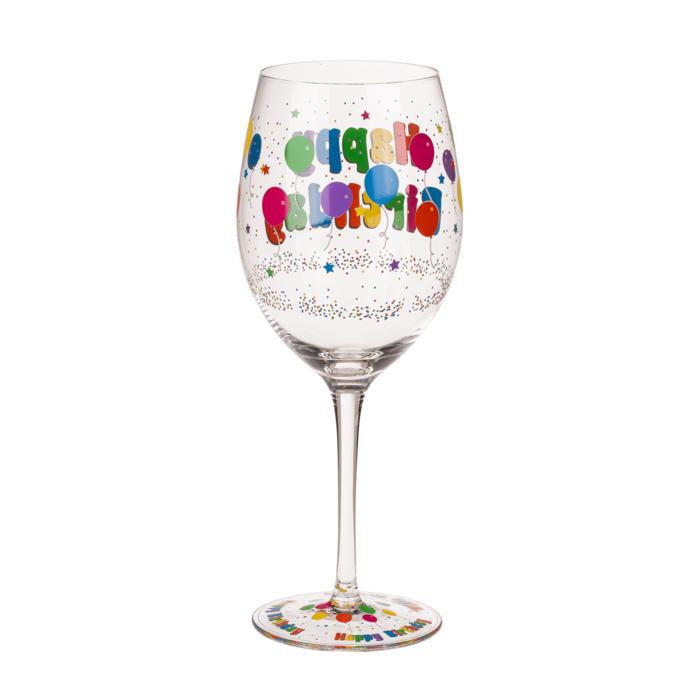 Wijnglas Happy Birthday 600ml
