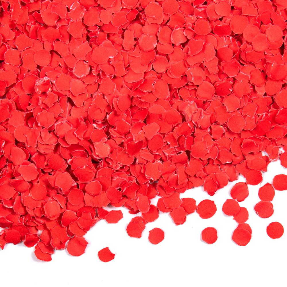 Confetti Rood 1cm 100gram