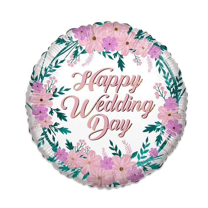 Folieballon Happy Wedding Day 46cm