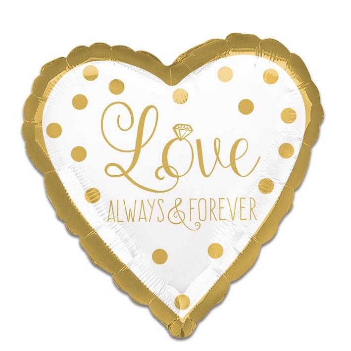 Folieballon Love Always&Forever 43cm