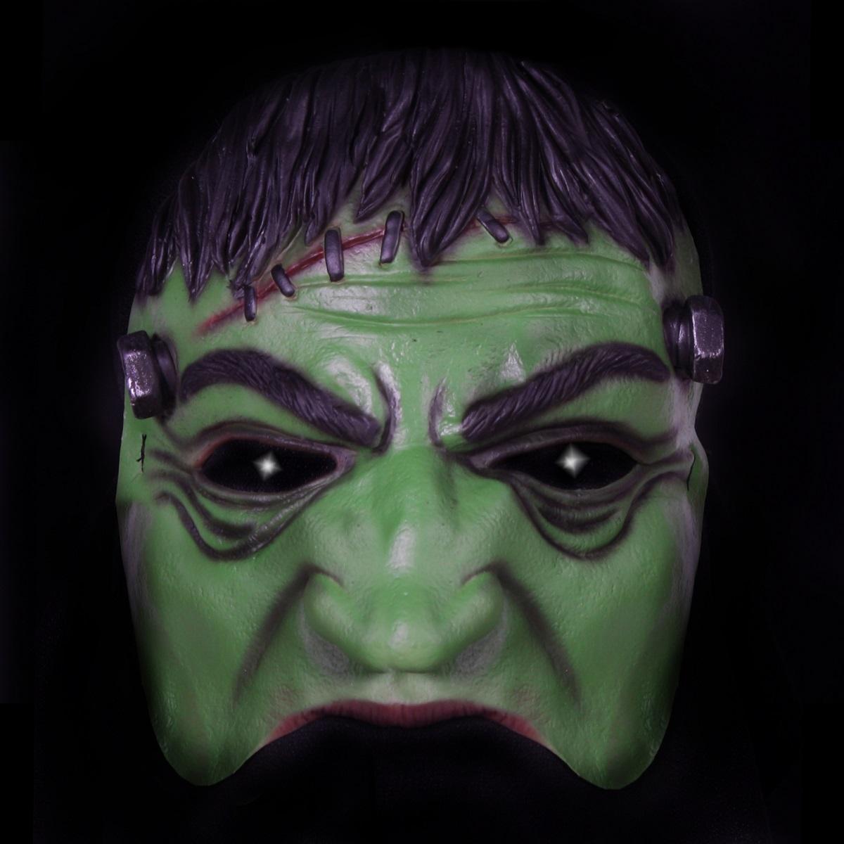 Half Rubber Gezichtsmasker Frankenstein