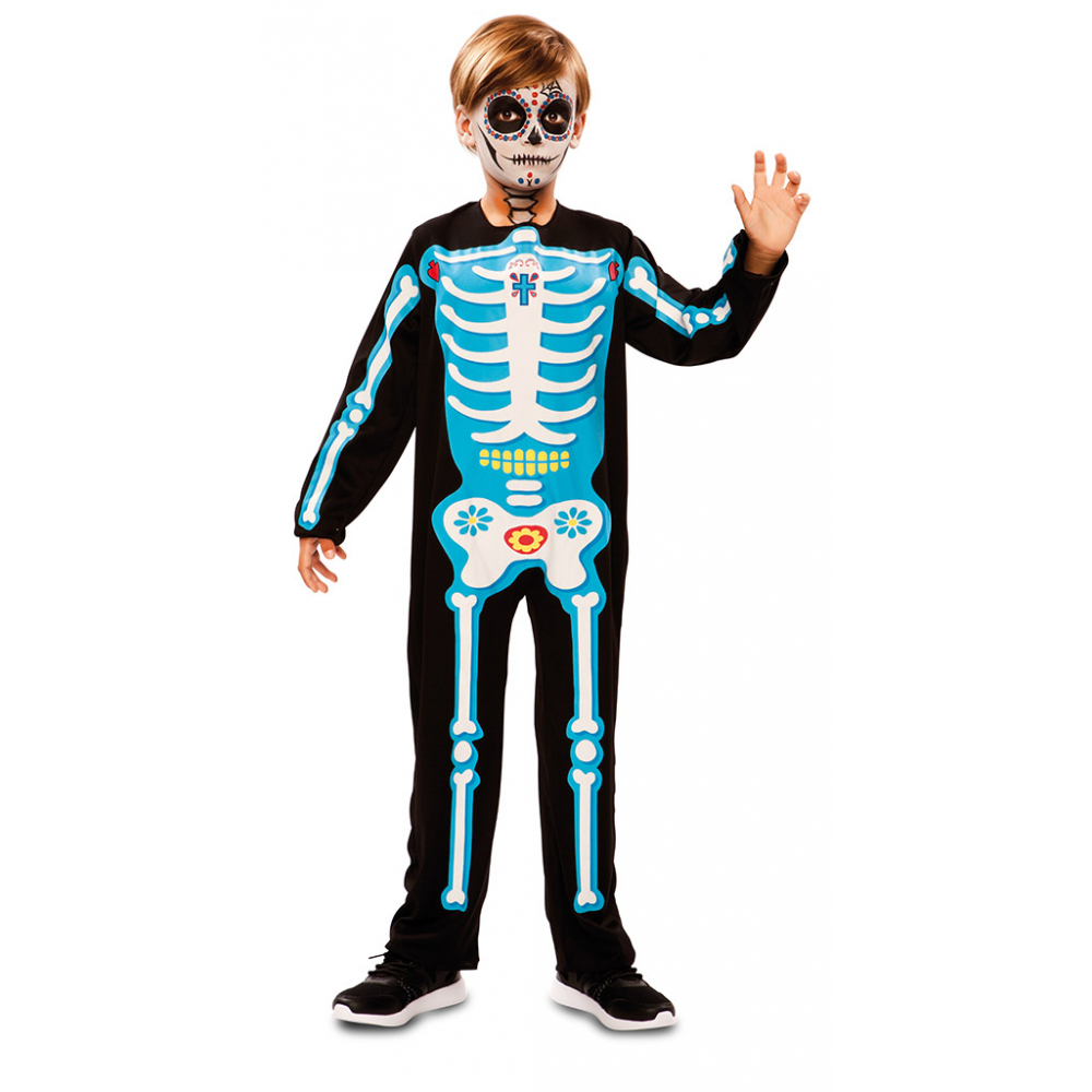 Jumpsuit Day of the Dead Blauw Kind