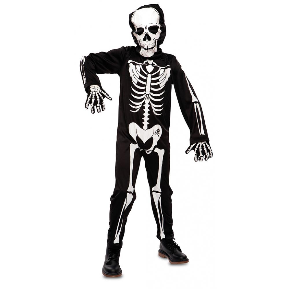 Kostuum Jumpsuit Skelet Kind