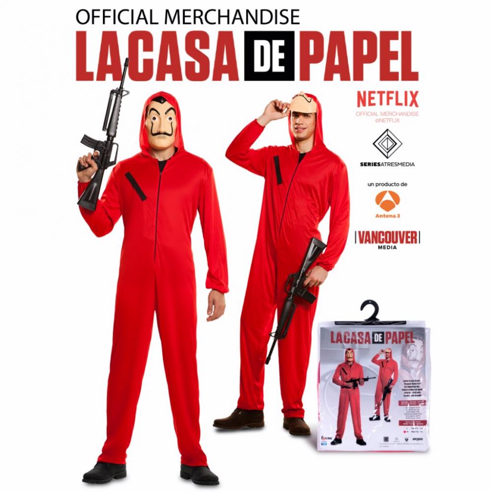 Kostuum La Casa de Papel Volwassen incl. Masker