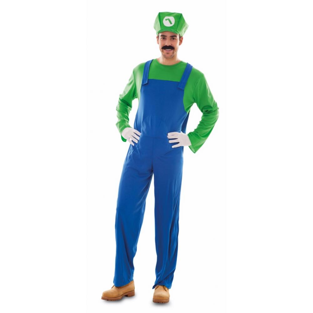 Kostuum Loodgieter Luigi Heren Mt.M/L