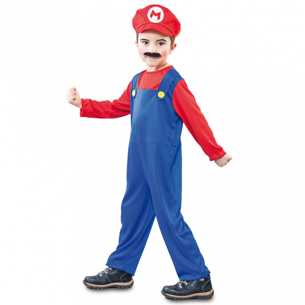 Kostuum Loodgieter Rood Mario Kind
