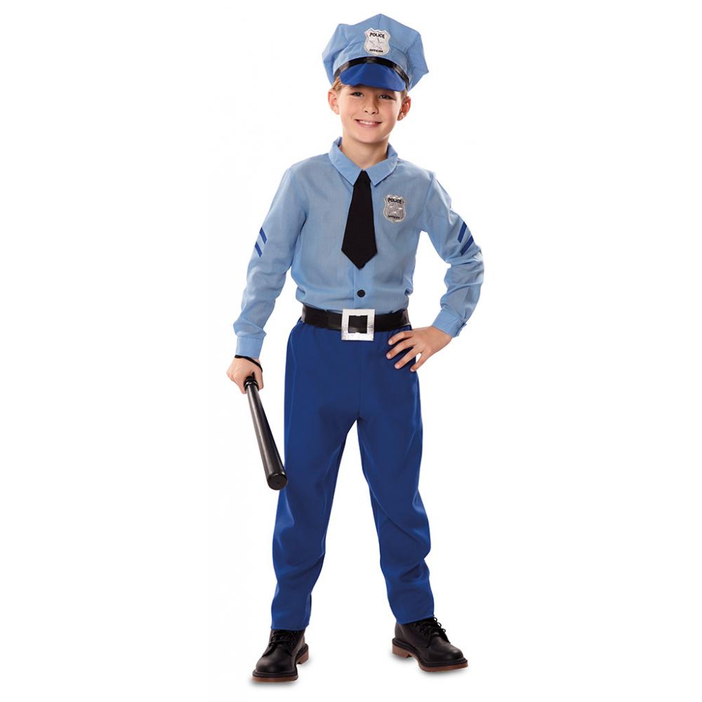 Kostuum Politieagent Blauw Kind