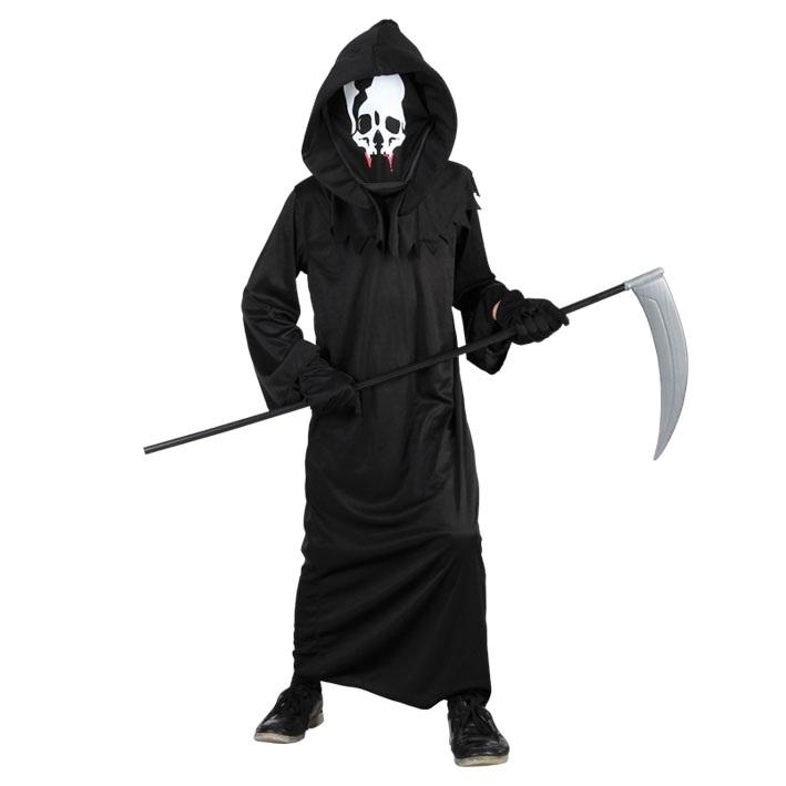 Kostuum Skelet Toga Zwart Kind
