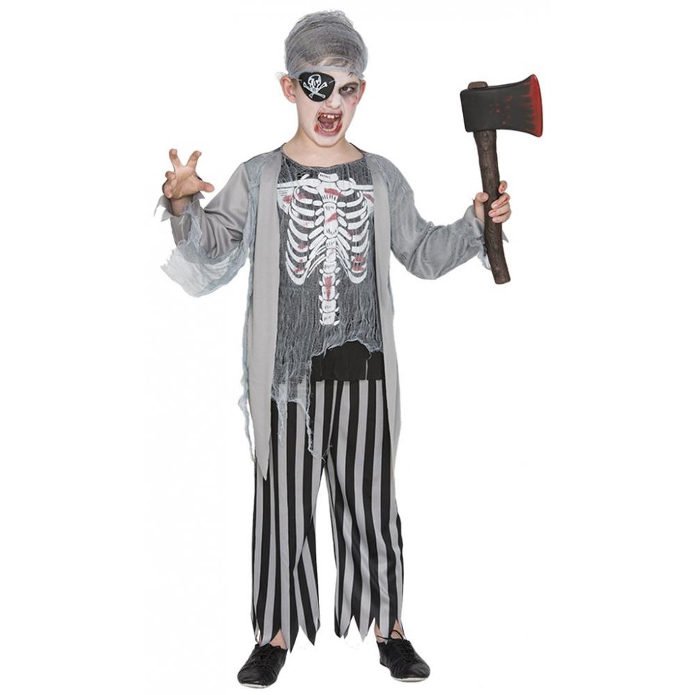 Kostuum Zombie Piraat Kind