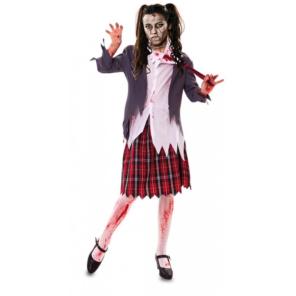 Kostuum Zombie Schoolmeisje Dames Mt.XL