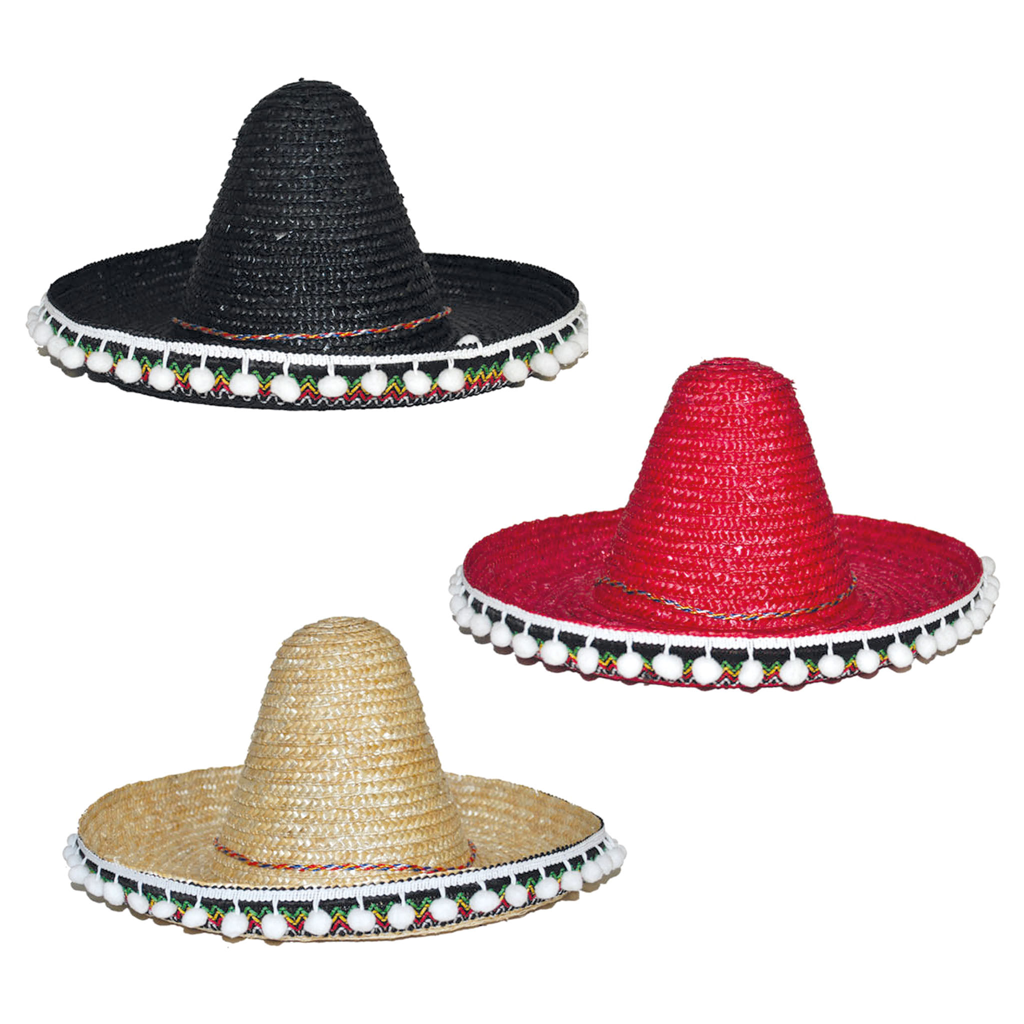 Mexicaanse Hoed/Sombrero Stro Kind