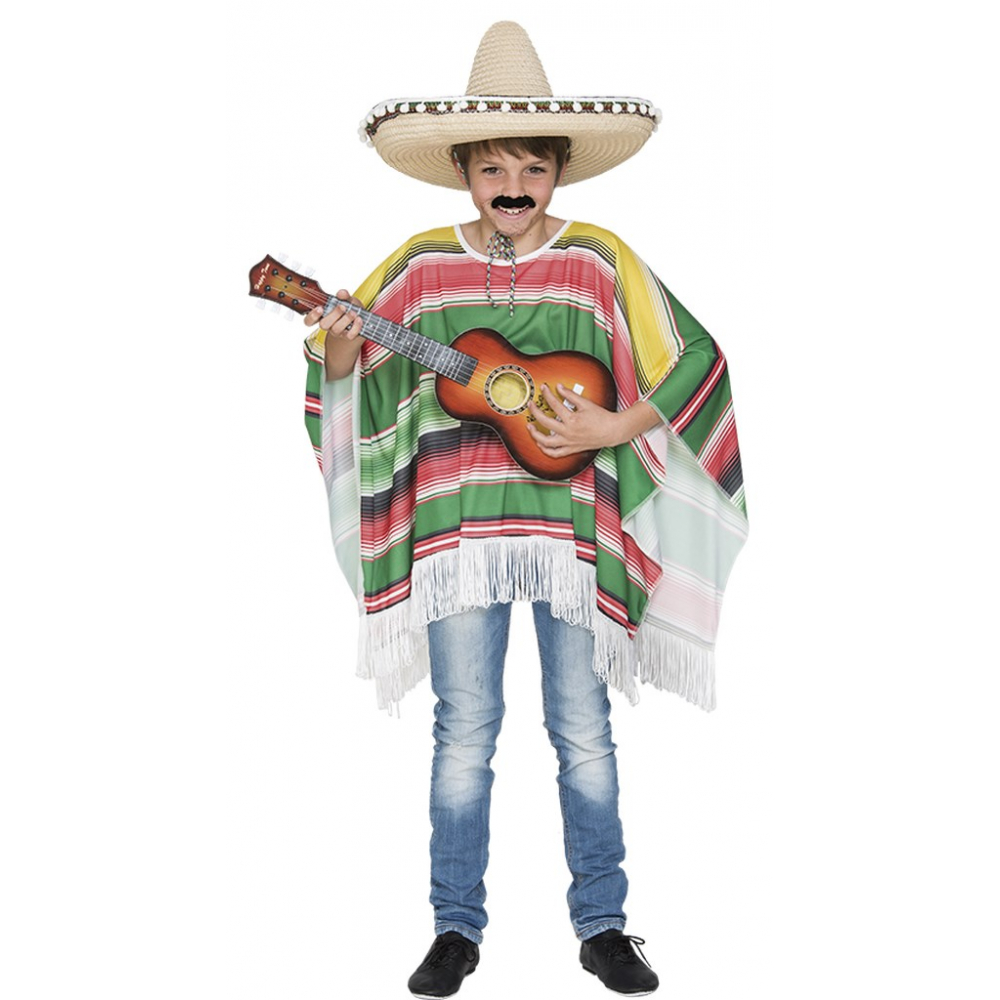 Mexicaanse Poncho Kind One Size