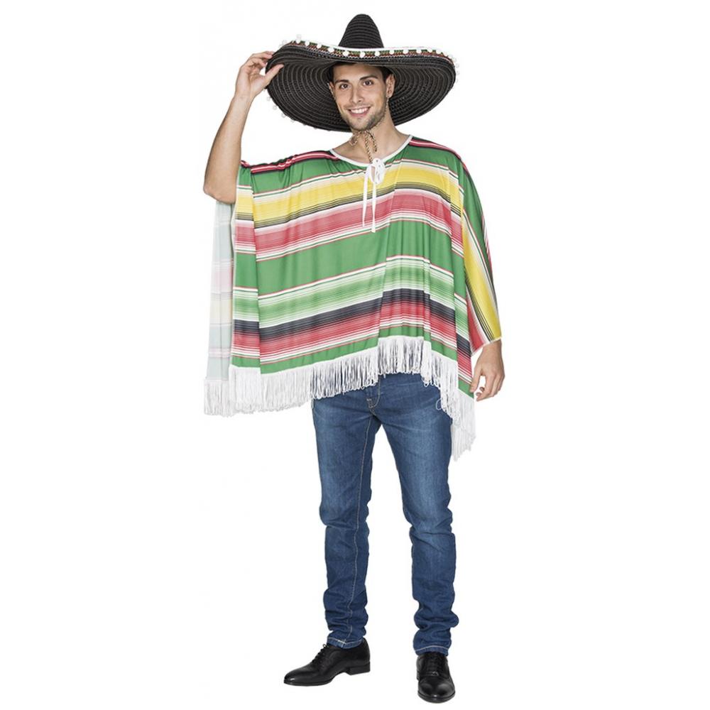 Mexicaanse Poncho Volwassen Mt.M/L