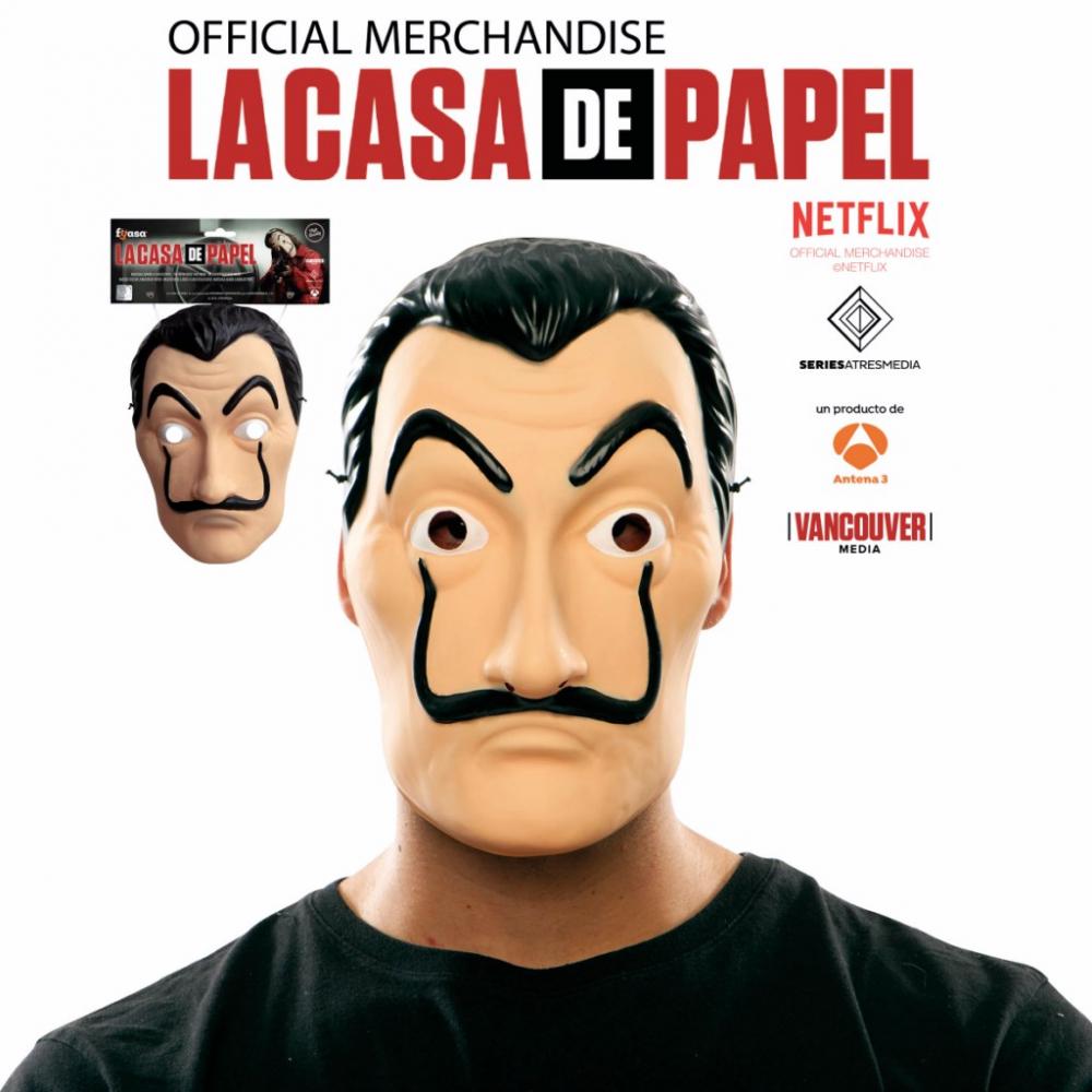 Plastic Masker Salvador La Casa de Papel Luxe