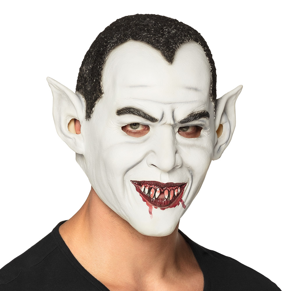 Rubber Masker Vampier Wit