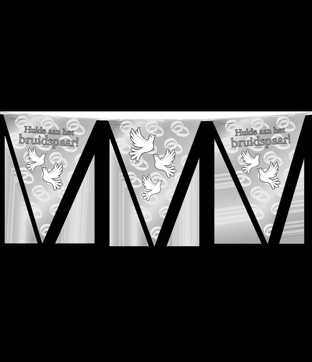 10m Vlaggenlijn Hulde aan het Bruidspaar Duiven