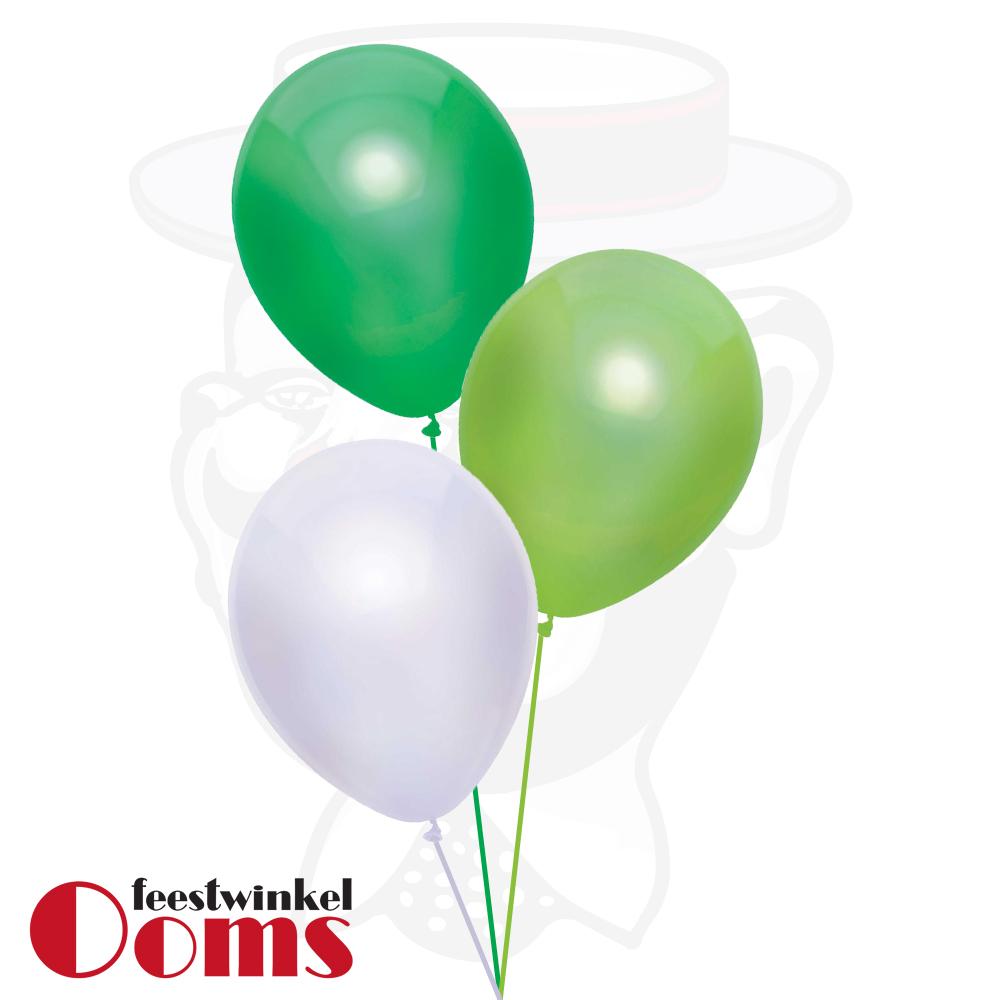 Ballonnen Tros 3st Groen Tinten