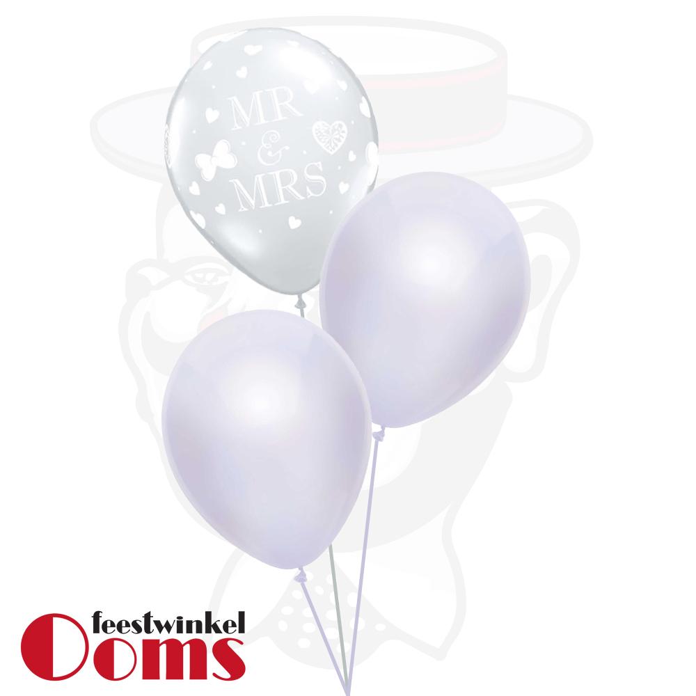 Ballonnen Tros 3st Trouwen