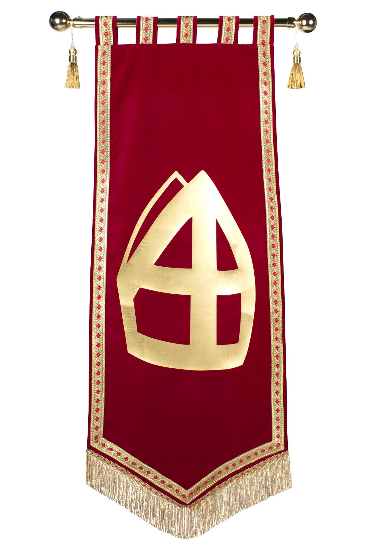 Banner Fluweel Sinterklaas Mijter Deluxe
