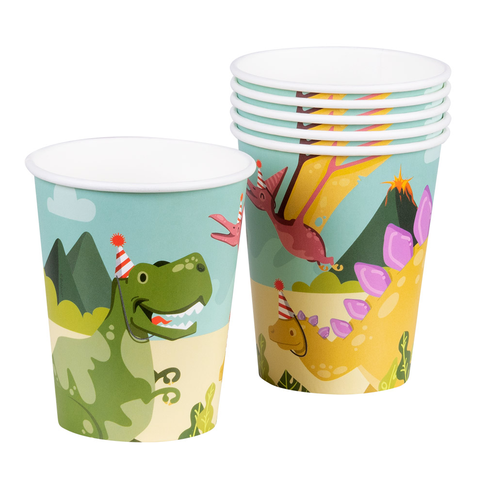 6st Bekers Dino Party 250ml