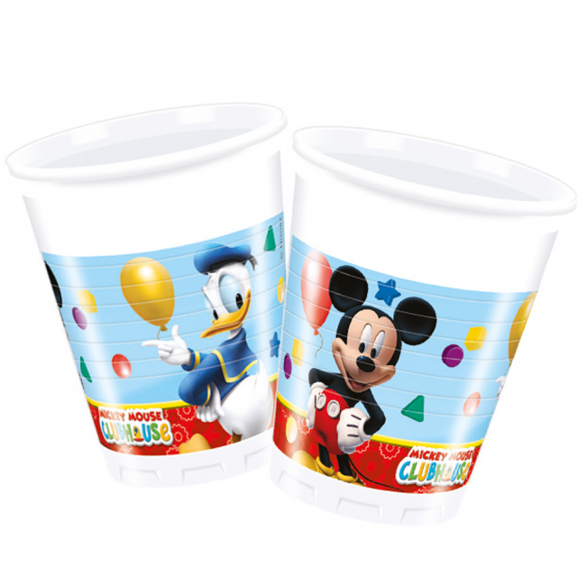 8st Bekers Mickey Mouse 200ml