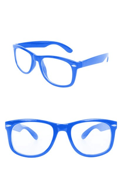Bril Blues Brothers Blauw Blank Glas