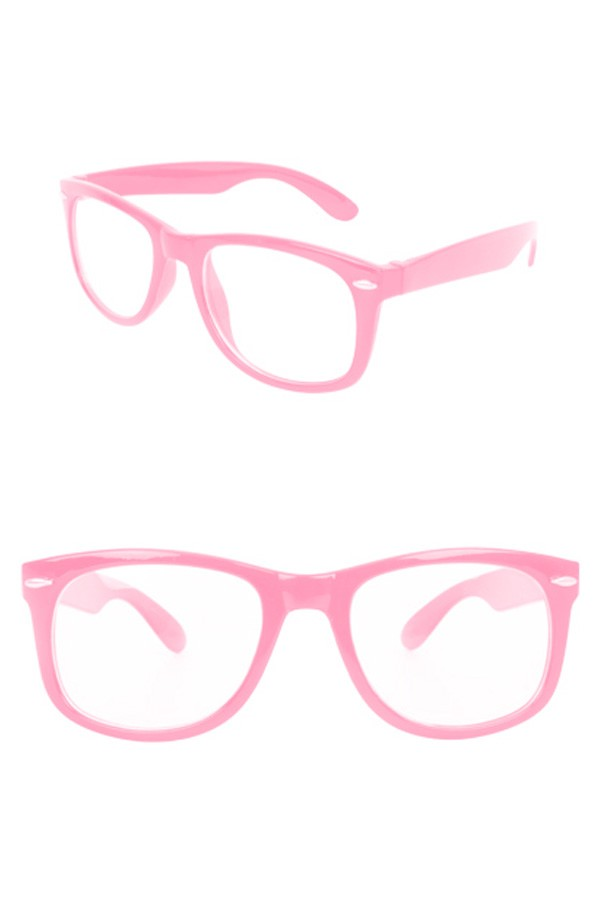 Bril Blues Brothers Roze Blank Glas