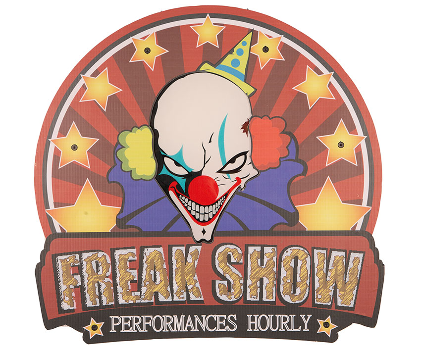 "Deco Bord ""Freak Show"" met Licht"