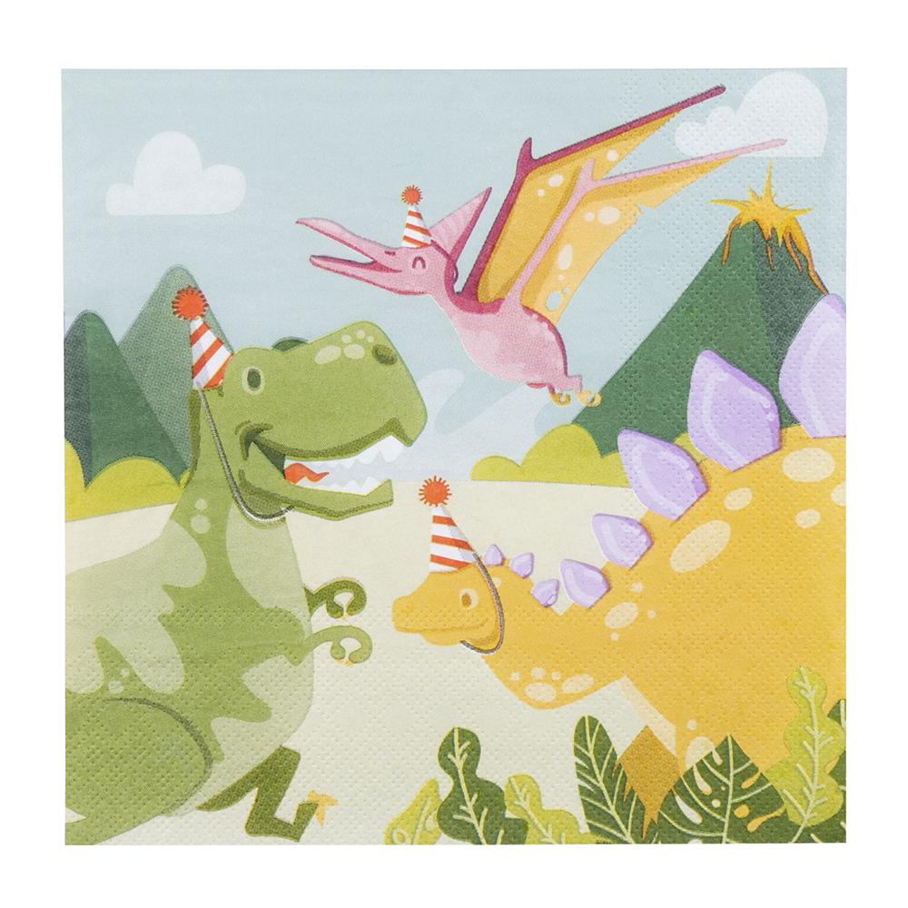 12st Servetten Dino Party 33x33cm