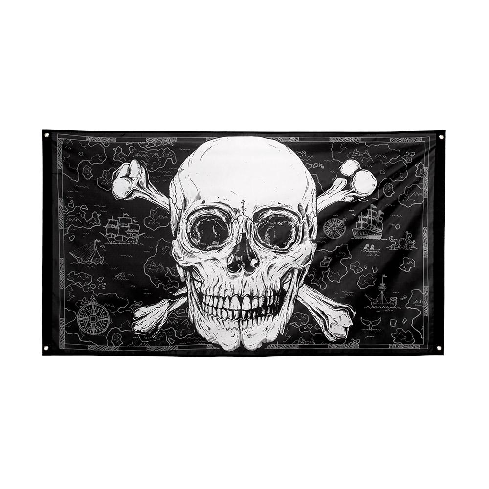 Vlag Piraten Zwart/Wit 90x150cm