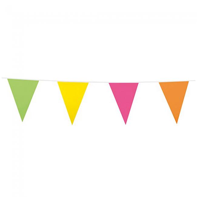 10m Vlaggenlijn Uni Multicolor
