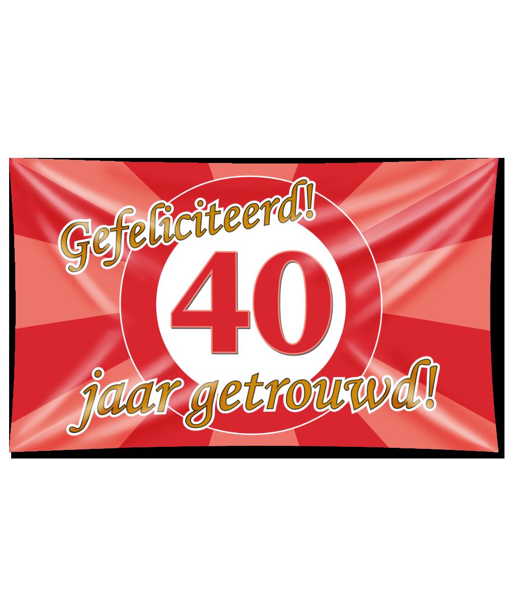 XXL Gevelvlag 40 Jaar Getrouwd! Special