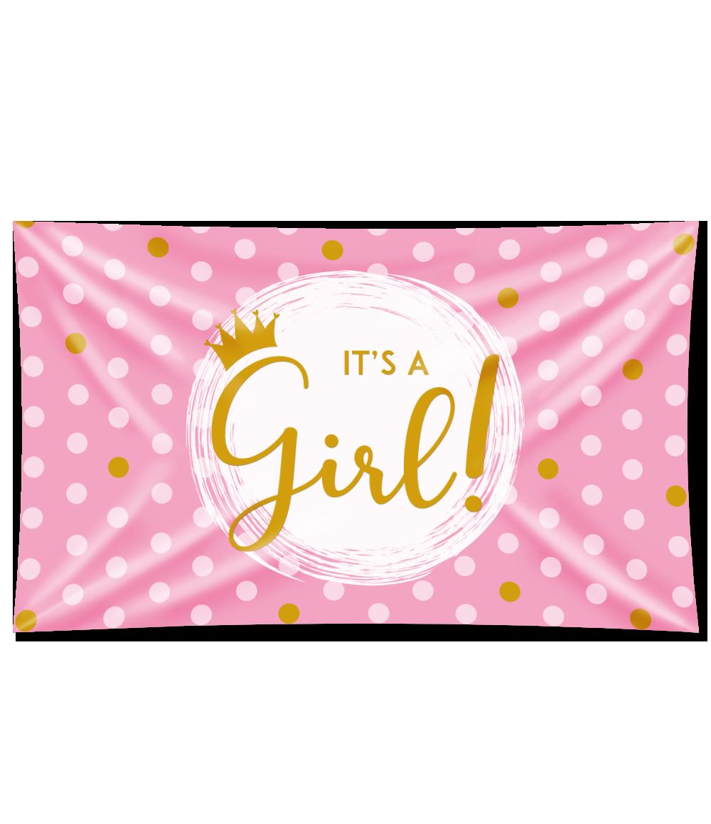XXL Gevelvlag It's a Girl! Special