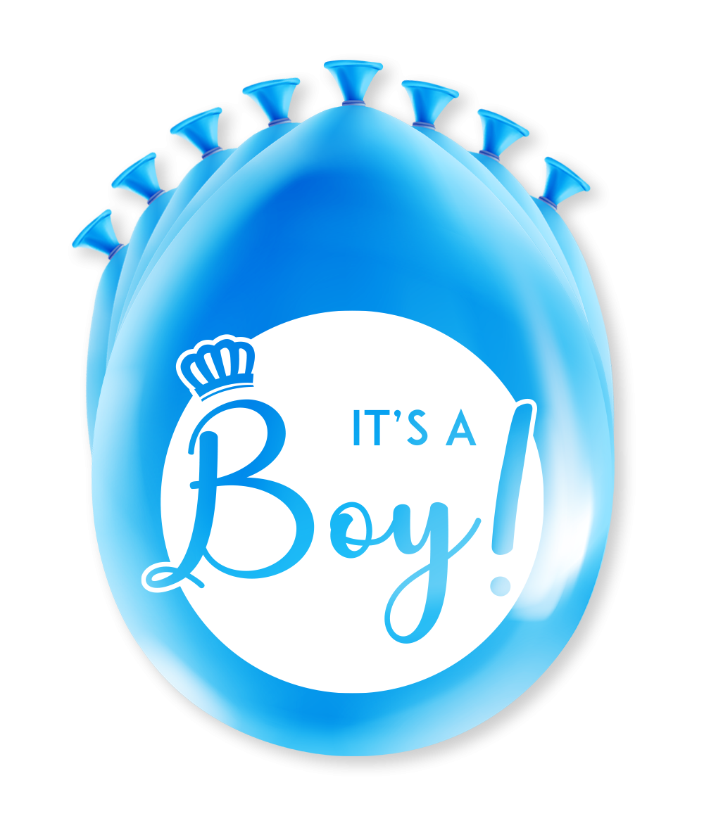 """8st Ballonnen It's A Boy! 12"""""""